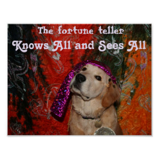 Golden Retriever Fortune Teller Poster