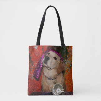 Golden Retriever Fortune Teller Tote Bag