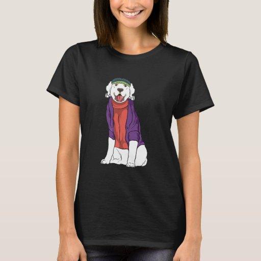 Golden Retriever Frankenstein Dog Halloween Costum T-Shirt