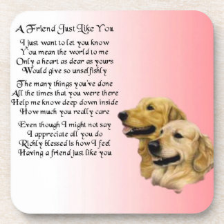 Golden Retriever Friend Poem Coaster