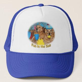 Golden Retriever Fun in the Sun Trucker Hat