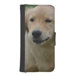 Golden retriever fundas tipo billetera para iPhone 5