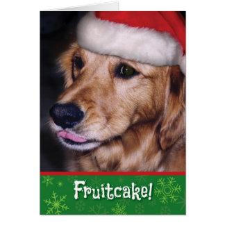 Golden Retriever- Funny Christmas Fruitcake Card
