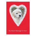 Golden Retriever Funny Valentine's Day Card