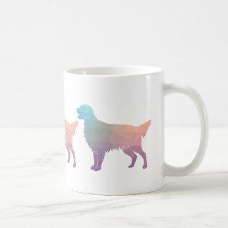 Golden Retriever Geometric Pattern Silhouette Coffee Mug