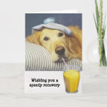 """Golden Retriever Get Well Card<br><div class=""""desc"""">Golden Retrievers are lovable, well-mannered, smart dogs with a great charm. They are easily trained and always patient and gentle with children. Charming, devoted, and self-assured, they are a popular family dog. Energetic and loving, Golden Retrievers enjoy pleasing their masters, so obedience training can be very rewarding. They excel in...</div>"""