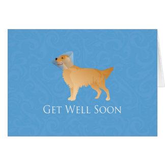 Golden Retriever Get Well Soon Card