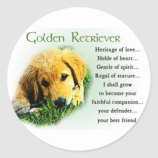 Golden Retriever Gifts Classic Round Sticker