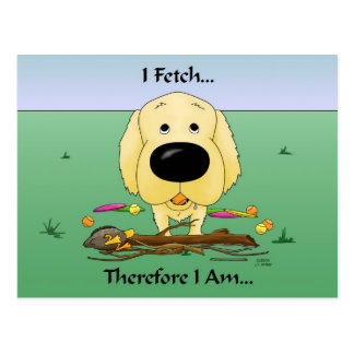 Golden Retriever(Goldens) I Fetch..Postcard Postcard