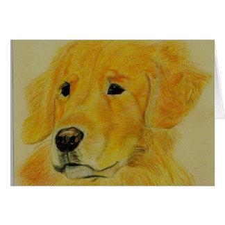 Golden Retriever - Goldie Card