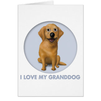 Golden Retriever Granddog Card