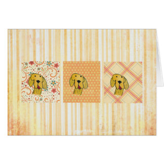 Golden retriever greeting card by a child.