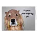 Golden Retriever Groundhog Day Card