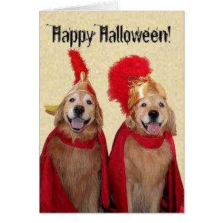 Golden Retriever Halloween Centurion Greeting Card