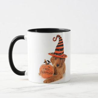 Golden Retriever Halloween Design Mug