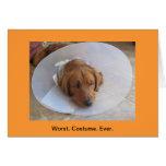 Golden Retriever Halloween Greeting Card  Cone