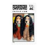 Golden Retriever Halloween Hippie Postage Stamp