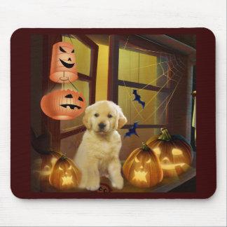 Golden Retriever Halloween Mousepad