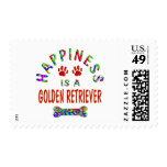 Golden Retriever Happiness Stamps