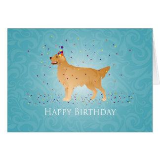 Golden Retriever Happy Birthday Design Card