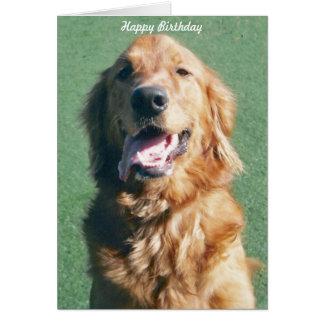 Golden Retriever Happy Birthday Greeting Card