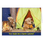 Golden Retriever Happy Camper Thank You Card