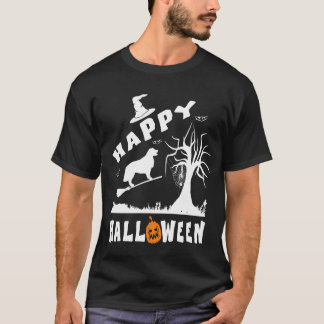 Golden Retriever Happy Halloween Dog Lovers Gift T-Shirt