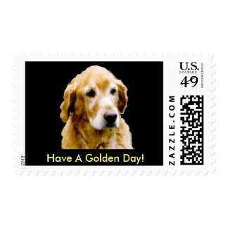 Golden Retriever Have A Golden Day Postage