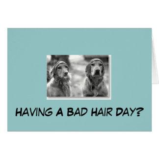Golden Retriever Having A Bad Hair Greeting Card