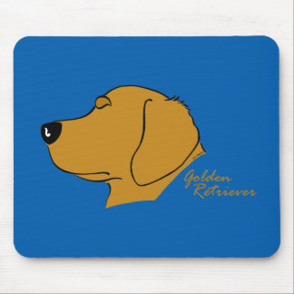 Golden retriever head silhouette mouse pad