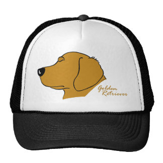 Golden retriever head silhouette trucker hat