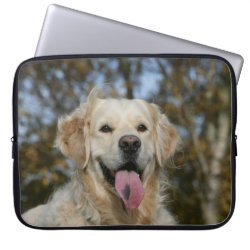 Golden Retriever Headshot 3 Laptop Sleeve