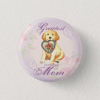 Golden Retriever Heart Mom Button