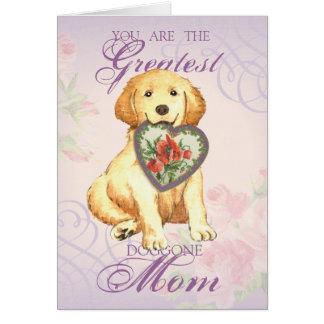 Golden Retriever Heart Mom Card
