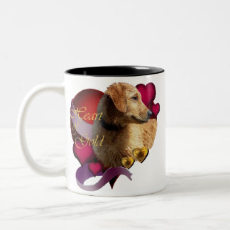 Golden Retriever Heart of Gold Two-Tone Coffee Mug