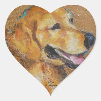 Golden Retriever Heart Sticker