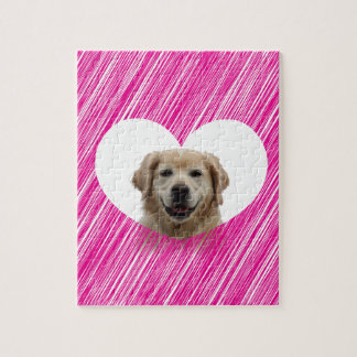 Golden Retriever Heart Valentine's Day Jigsaw Puzzle
