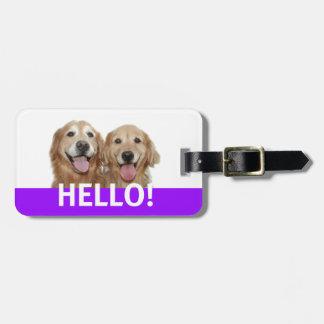 Golden Retriever Hello Travel Bag Tags