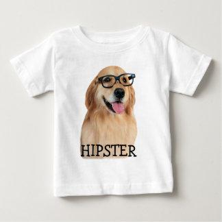 Golden Retriever Hipster Nerd Baby T-Shirt