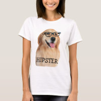 Golden Retriever Hipster Nerd T-Shirt