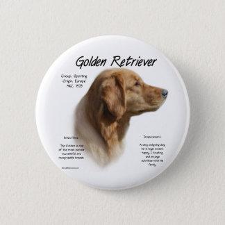 Golden Retriever History Design Pinback Button
