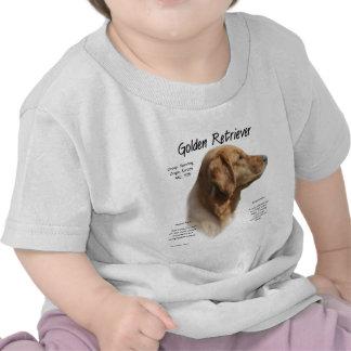 Golden Retriever History Design Shirts