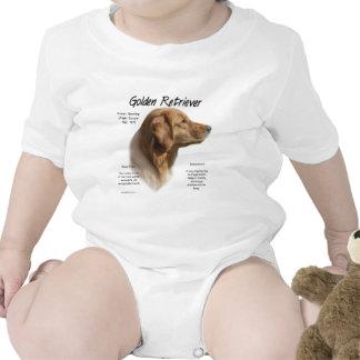 Golden Retriever History Design Tee Shirts