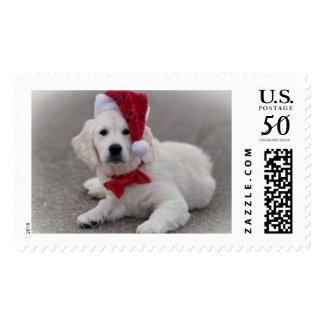 Golden Retriever Holiday Postage Stamp