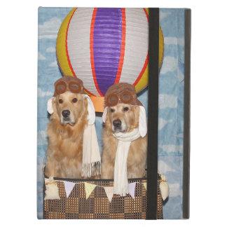 Golden Retriever Hot Air Balloon Pilots iPad Air Cover