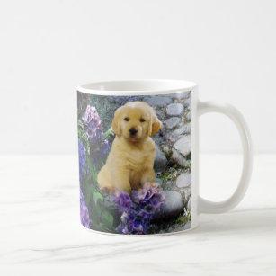 Golden Retriever Hydrangea Mug