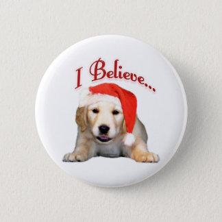 Golden Retriever I Believe - Button