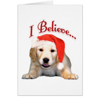 Golden Retriever I Believe Card