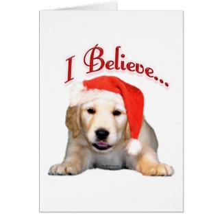 Golden Retriever I Believe Card