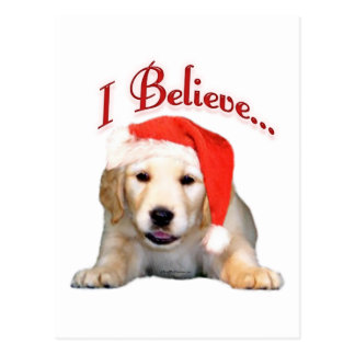 Golden Retriever I Believe Postcard